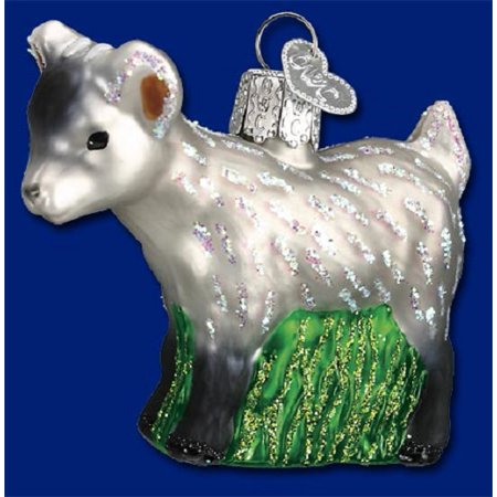 old world christmas pygmy goat wildlife glass ornament 12285 free box new