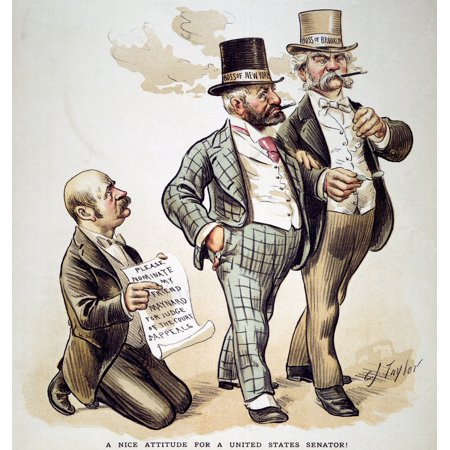 Political Corruption 1893 NA Nice Attitude For A United States Senator The Power Of Democratic Party Boss Richard Croker Of New York City And Boss Mclaughlin Of Brooklyn Is Demonstrated - Party City Brooklyn New York
