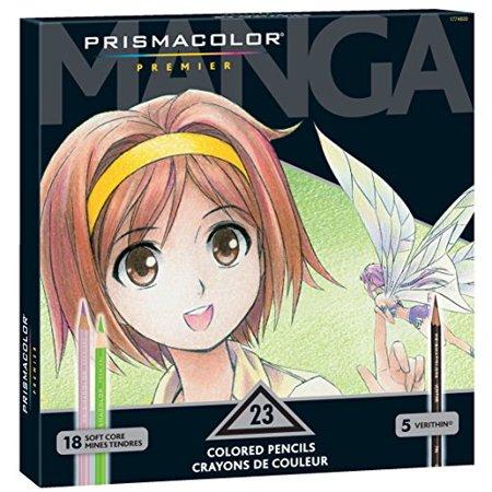 Prismacolor Premier Colored Pencils  Manga Colors  23 Count