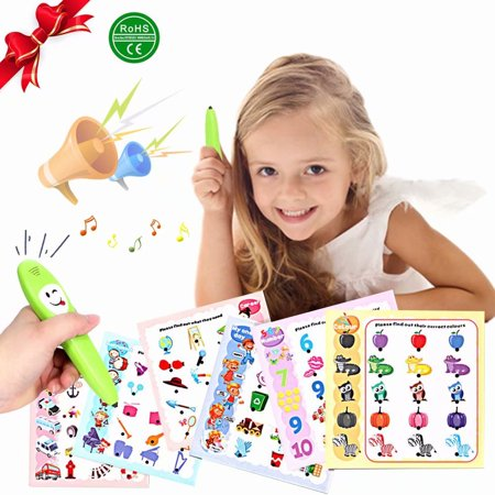 Akoyovwerve ABC Sound Book for Children Fun Educational Toy, Learning Activities for Alphabet, Numbers, Animals, Math and Time for (Educational Activities Toe)