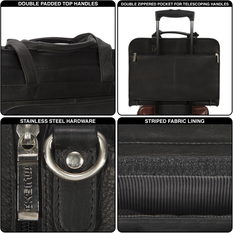 e160ee73cdf6 Muiska Leather Tomas Classic Double Zippered Travel Dopp Kit Toiletry Bag -  Walmart.com