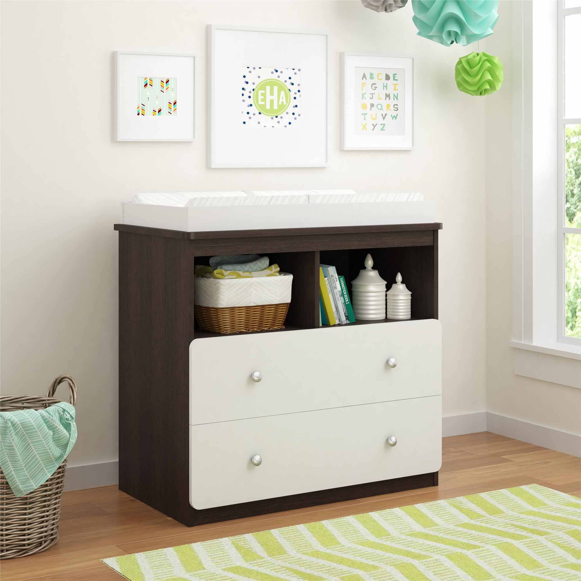 Cosco Willow Lake Changing Table, Coffee House Plank/White