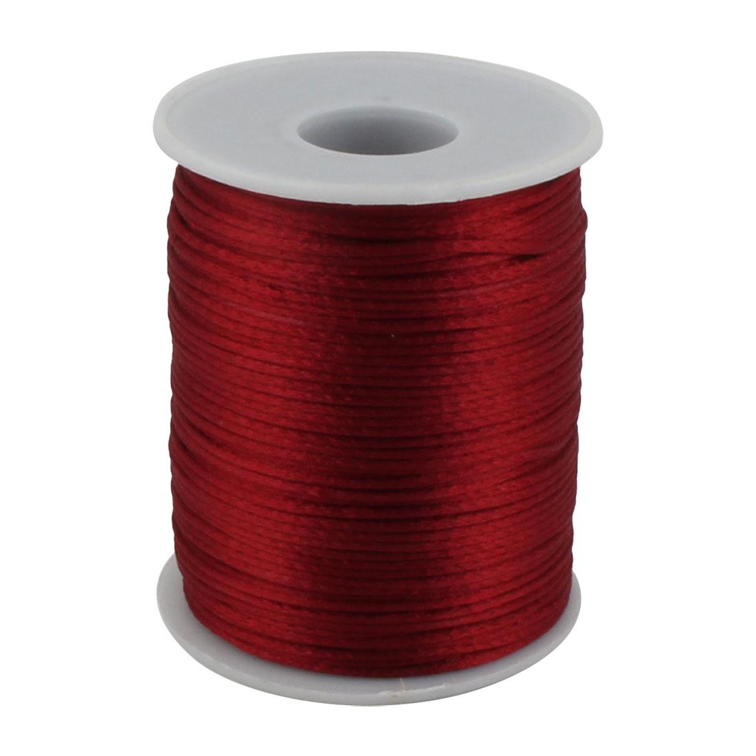 Festival Nylon DIY Braided Chinese Knot Cord Thread String Burgundy 109 Yards