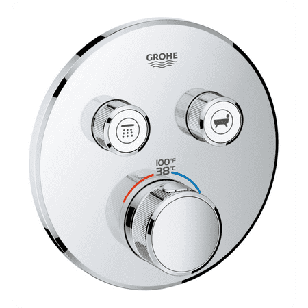 Grohe 29137be0 Grohtherm Smartcontrol Dual Function Thermostatic Trim With Control Module In Polished Nickel Walmart Com Walmart Com