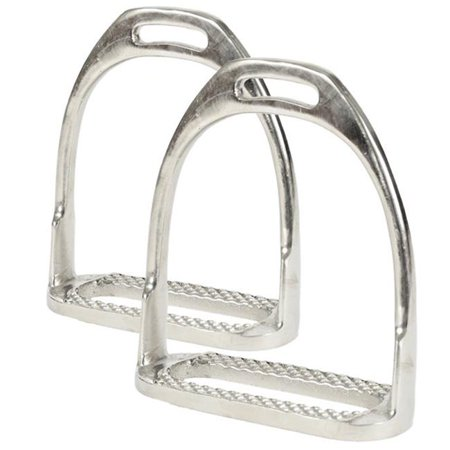 Jacks Imports 10517-4-1-4 Nickel Plated Hunting Stirrup Irons - 4.25 in.