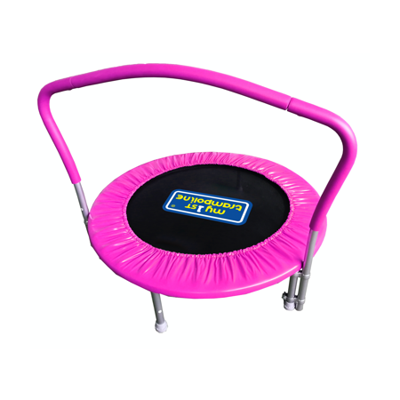 My First Trampoline Mini Trampoline with Handle Bar, 36 in (Pink)