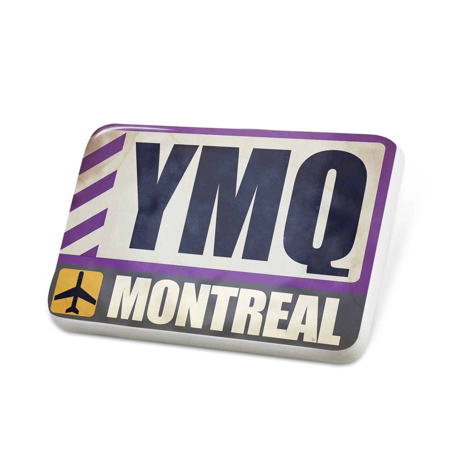 Porcelein Pin Airportcode YMQ Montreal Lapel Badge – NEONBLOND