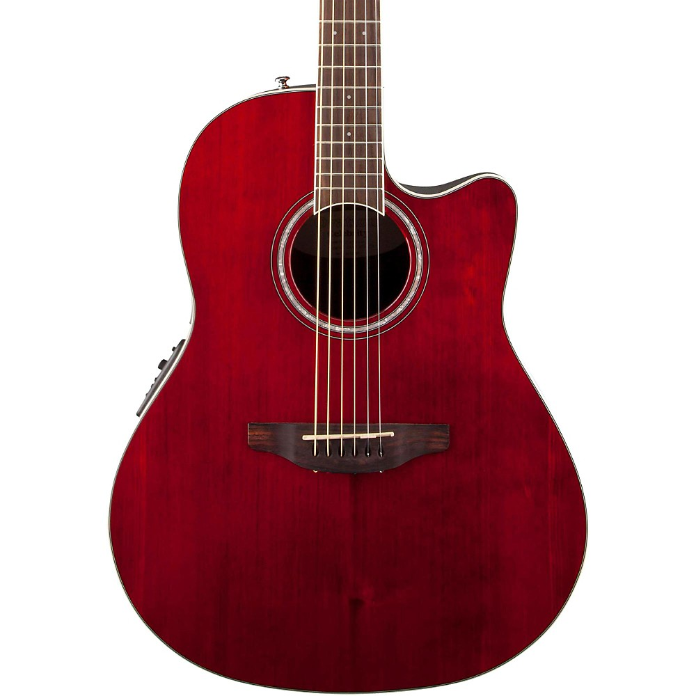Ovation CS24-RR Celebrity Standard Acoustic Electric Guitar (Ruby Red)