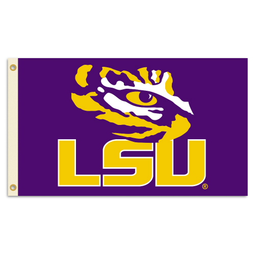 Bsi Products Inc LSU Tigers 2-Sided Flag with Grommets Flag with Grommets