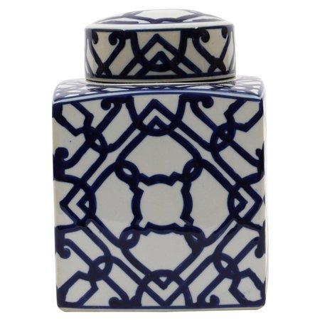 3R Studios Blue and White Ginger Jar ()