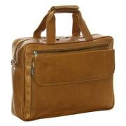 Piel Leather Slim Top-Zip Briefcase