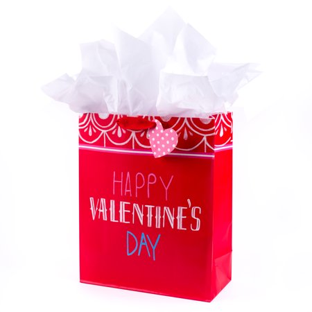 Hallmark extra large gift bag with tissue paper happy valentines hallmark extra large gift bag with tissue paper happy valentines day on negle Gallery
