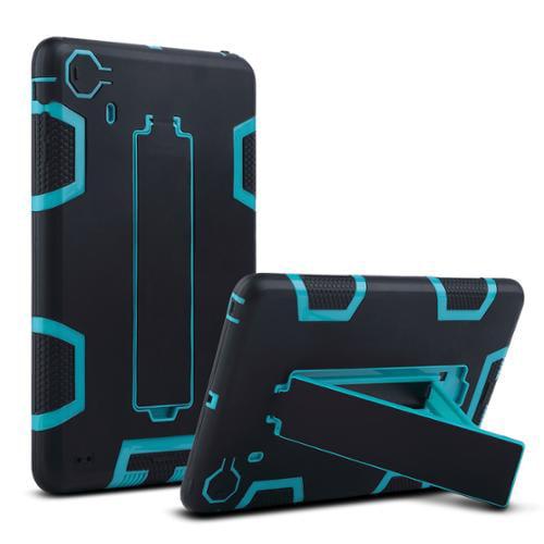ULAK iPad Mini Case 3in1 Hybrid Shockproof Case Kickstand For iPad Mini/ iPad Mini with Retina Display/ iPad Mini 3 (Aqua Blue/Black)