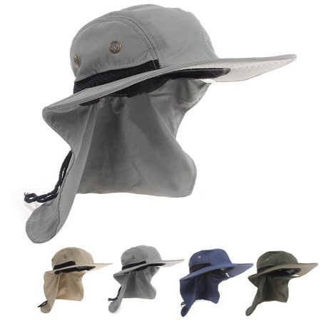 Outdoor Fishing Hiking Boonie Hunting Snap Hat Brim Ear Neck Cover Sun Flap Cap ()