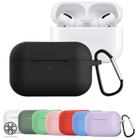 Luxtrada Protective Silicone Cover for AirPods Pro Charging Case [2019 Release], Upgrade Bounce Case with Keychain for Apple AirPods Pro Carrying Case (Army Green)