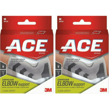 Elbow Pack (2 Pack - 3M ACE Elbow Brace Medium 1 Each )