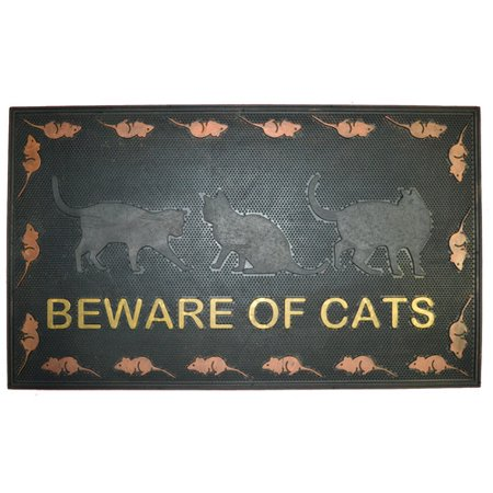 Imports Decor Beware of Cat Doormat Door Mat Imports Decor