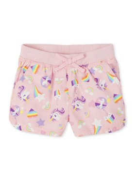 The Children's Place Baby Girls & Toddler Girls Unicorn Printed Shorts