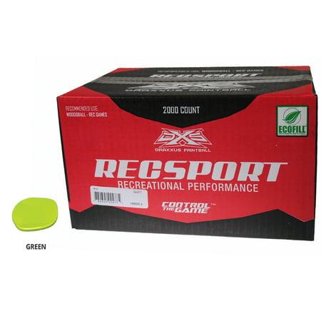 GI SPORTZ RECSPORT PAINTBALLS 2000 Rounds - GREEN FILL ()