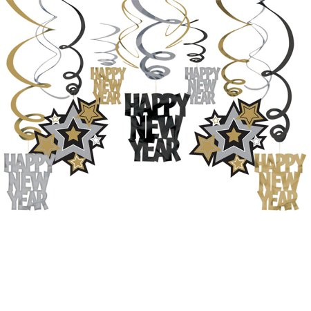 New Year Hanging Foil Swirl Decorations (Each) - New Year Eve Party Supplies](New Years Decorations)