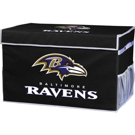 Franklin Sports NFL Baltimore Ravens Collapsible Storage Footlocker Bins - Large