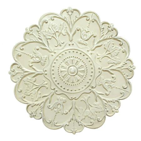 Shabby Decor - Stratton Home Decor Shabby White Medallion Wall Decor