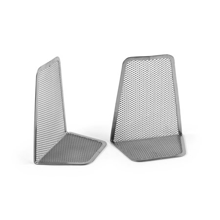 Design Bookends - Design Ideas BookEnds, Pair of 2, Silver Mesh