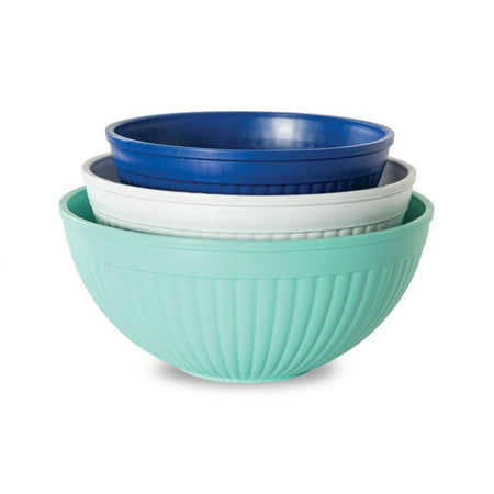 Nordic Ware 3-pc Prep & Serve Microwave-Safe Mixing Bowl Set, 2 qt, 3.5 qt and 5 qt