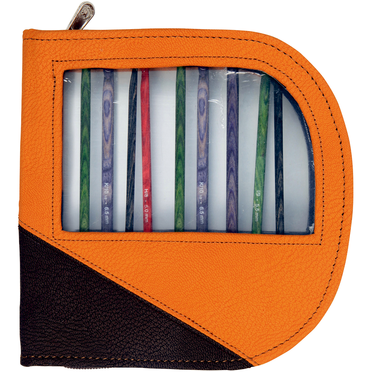 Faux Leather Danube Crochet Hook Case-