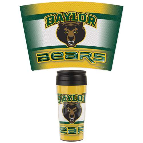 Baylor Bears 16oz Plastic Travel Mug