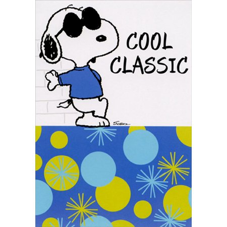Hallmark Snoopy Cool Classic Peanuts Birthday Card