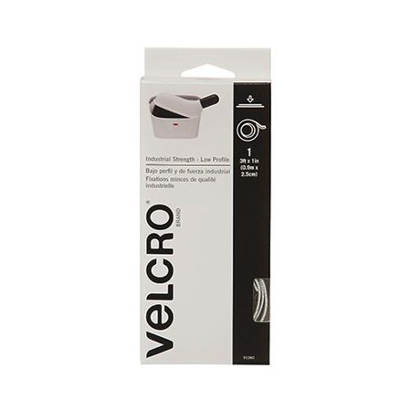 Velcro Usa Consumer Pdts 91060 Industrial Strength Fastening Tape  Low Profile  White  3 Ft  X 1 In