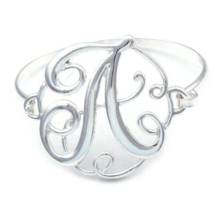 cocojewelry Monogram Initial English Alphabet Letter Bangle Bracelet
