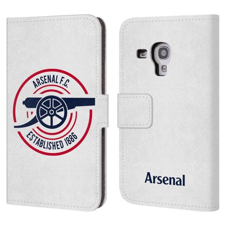 OFFICIAL ARSENAL FC 2018/19 CREST AND GUNNERS LOGO LEATHER BOOK WALLET CASE COVER FOR SAMSUNG PHONES 2