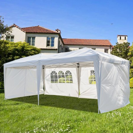 10' x 20' Canopy Tents for Summer Outside, Party Sun Shade Instant Folding Portable, Heavy Duty Steel Frame Quick, Sun Shade Wedding Instant Folding Protable Better Air Circulation, White, (Best Air Frame Tent)