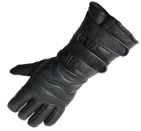 Perrini Motorcycle Gloves Winter Riding Leather Biker Leather Gloves New