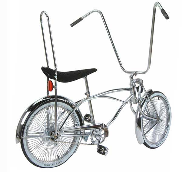 "20"" High Back Lowrider Bike, Chrome"