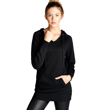 Womens Raglan V Neck Long Sleeve Pullover Basic Hoodie Sweater (Team Womens Raglan Hoodie)