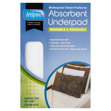 "Image of Inspire Washable and Reuseable Absorbent Underpad - 30""X34"""