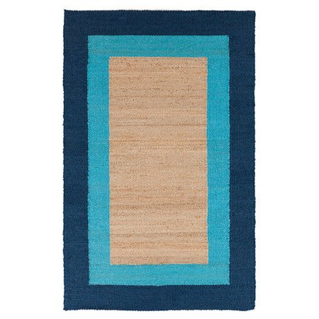 Surya mimosa bright cerulean rug for Bright blue area rug
