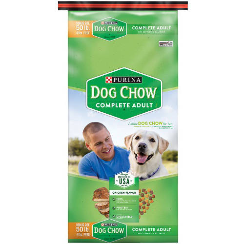 Purina Dog Chow Complete Dog Food Bonus Size 50 lb. Bag