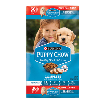 Puppy Chow Complete With Real Chicken Dry Puppy Food - 36 lb. Bag - Halloween Puppy Chow