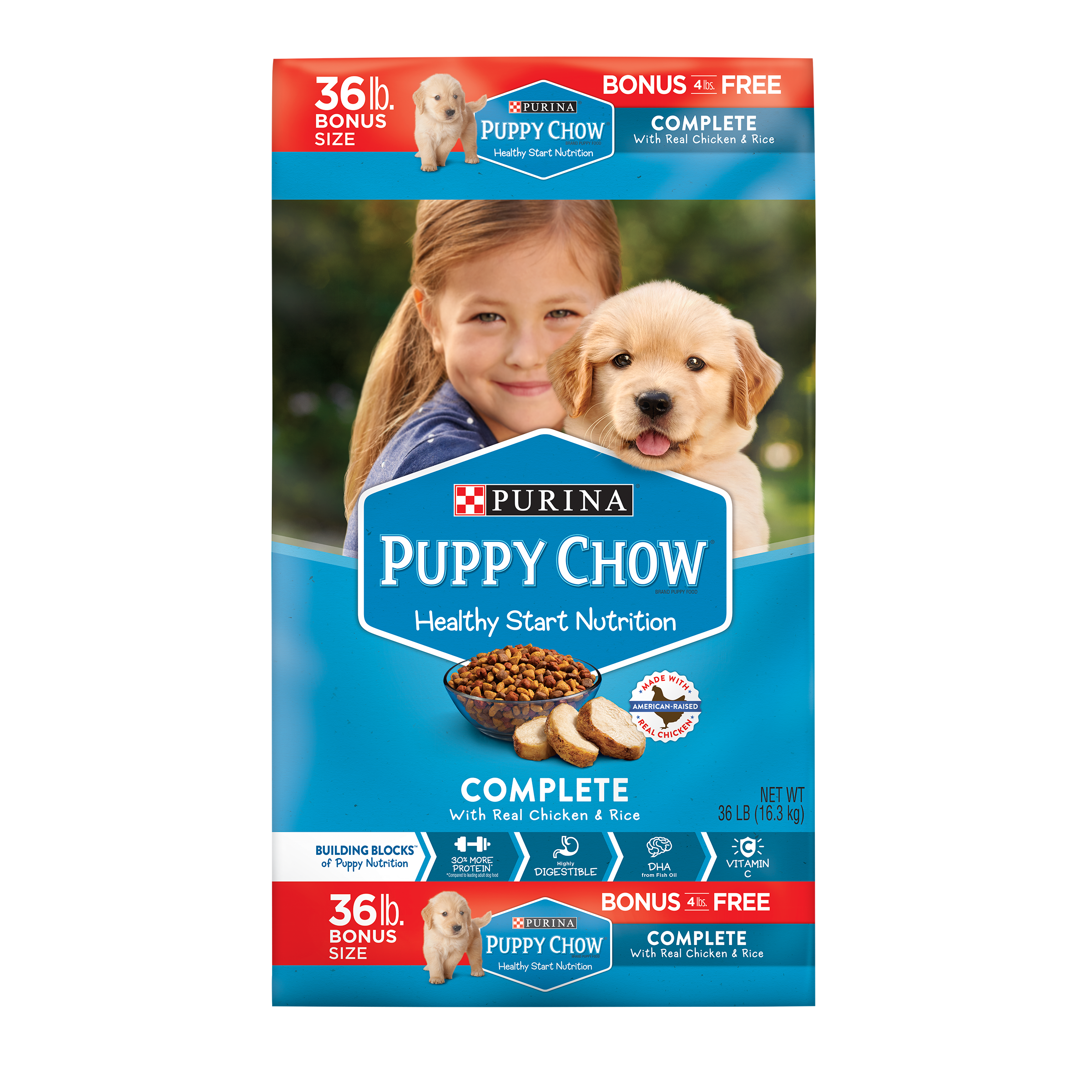 Purina Puppy Chow High Protein Dry Puppy Food; Complete With Real Chicken - 36 lb. Bag