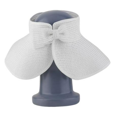 2600a162fe4 New Sale Ladies Women Summer Sun Beach Folding Roll Up Wide Brim Straw  Visor Hat Cap