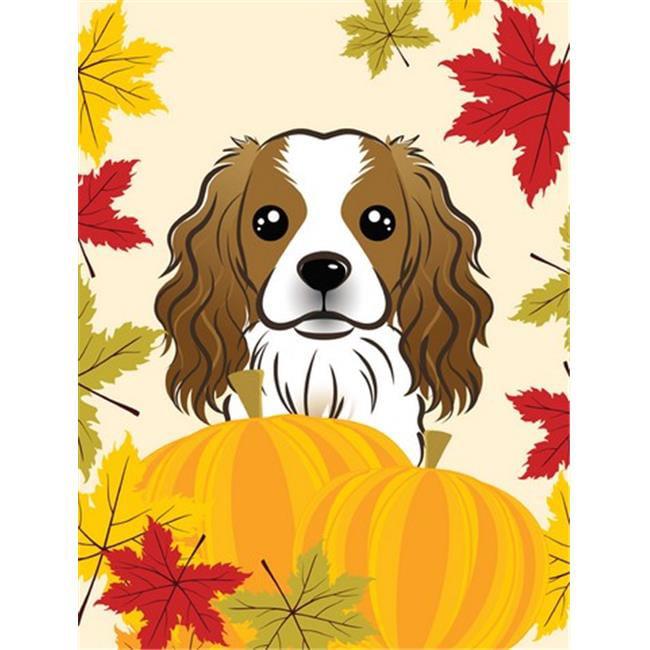 Cavalier Spaniel Thanksgiving Flag Garden