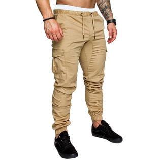 Men Solid Colored Slim Activewear Trouser