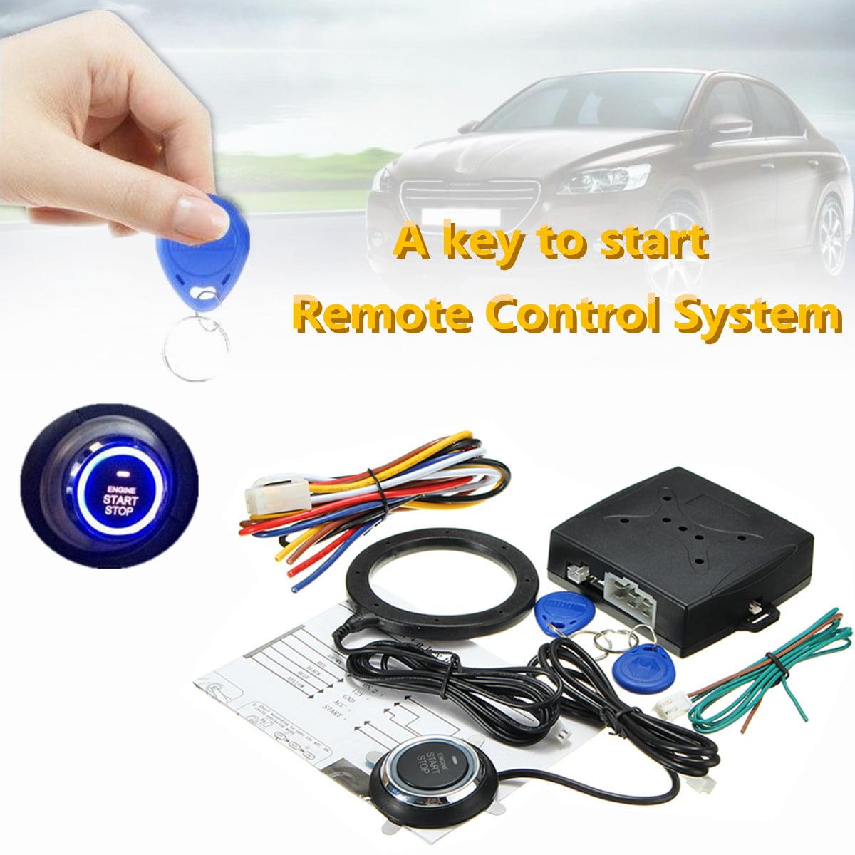 Keyless Entry Car RFID Engine Push Stop Start Button Lock Ignition Starter Alarm