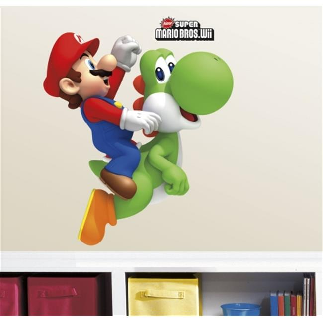 Room Mates RMK1918GM Yoshi - Mario Peel & Stick Giant Wall Decals
