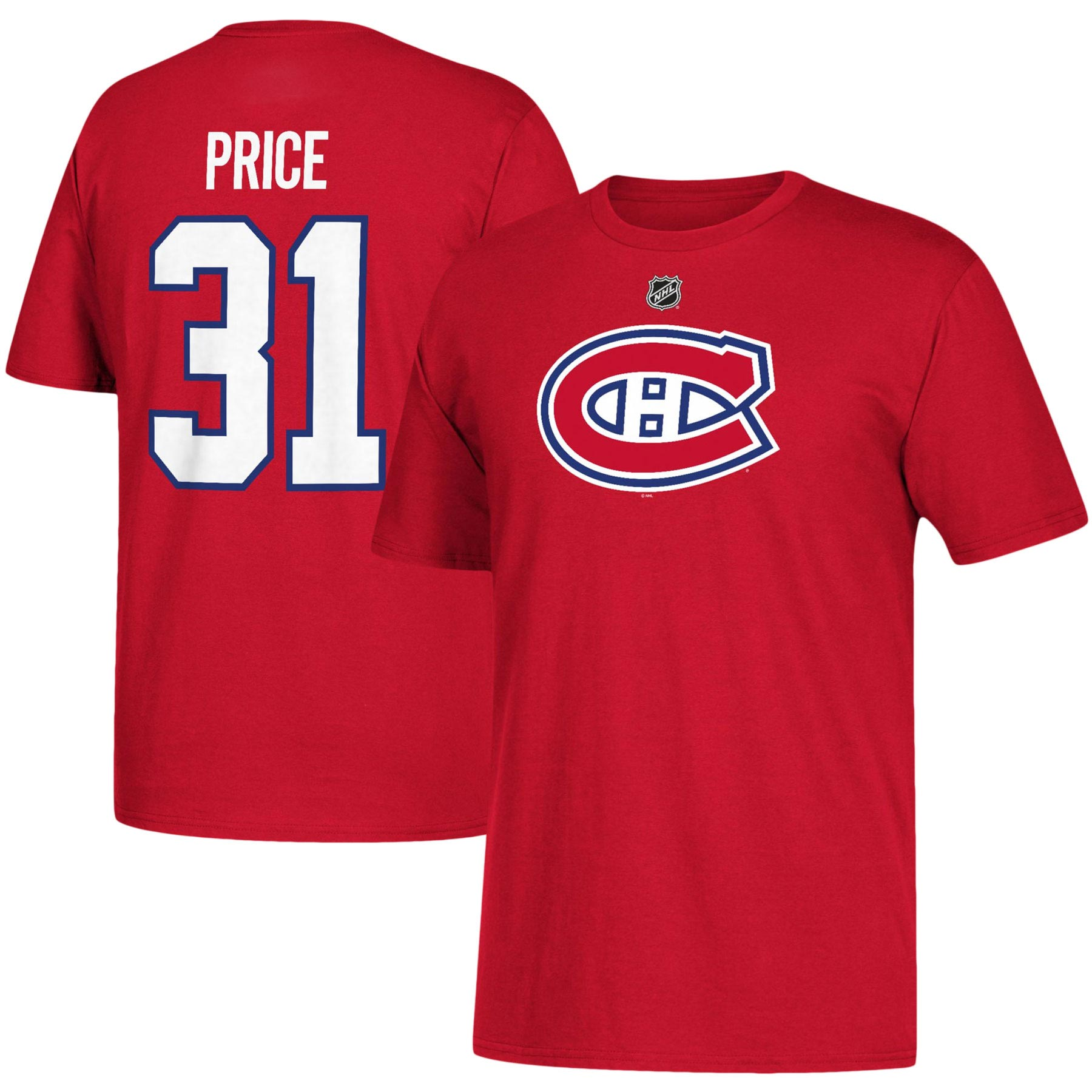 1496c6c27d1 Montreal Canadiens Carey Price NHL YOUTH Player Name   Number T-Shirt - NHL  Team Apparel