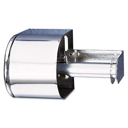 Cover Dispenser - San Jamar Covered Reserve Roll Toilet Dispenser, 10 x 6 1/4 x 6, Chrome -SJMR1500XC